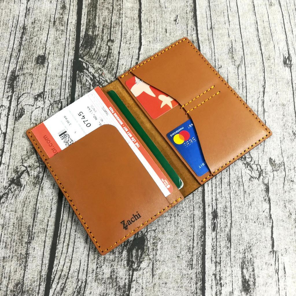 Ví đựng Passport Da Bò, Ví đựng Hộ Chiếu, Bao Da Passport, Vỏ Bao Hộ Chiếu Da Bò Handmade - Zachi PP722 Giảm Cực Đã