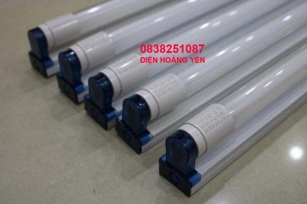 Bộ 5 Bóng đèn led Tuýp thủy tinh 22W 1,2m, (ánh sáng trắng)+ 5 Máng đèn led tuýp 1.2m