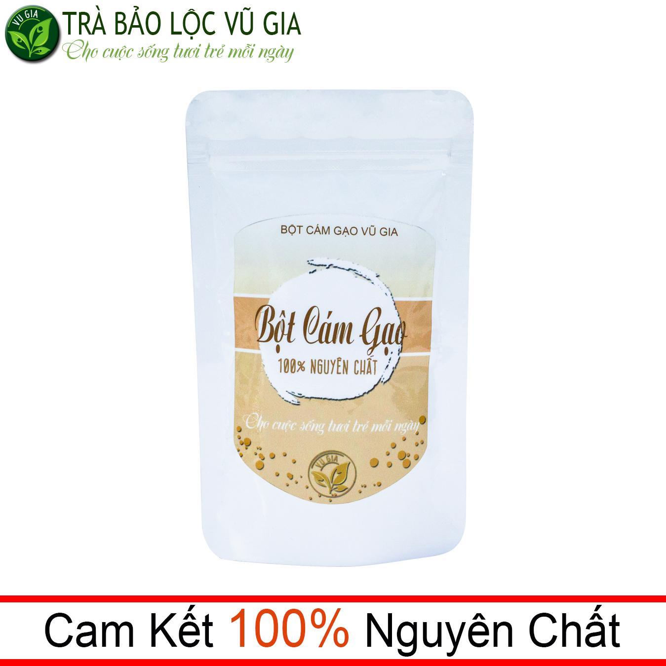 Bột Cám Gạo Nguyên Chất Vũ Gia (100g/ túi) - đắp mặt, tắm trắng, tẩy tế bào chết