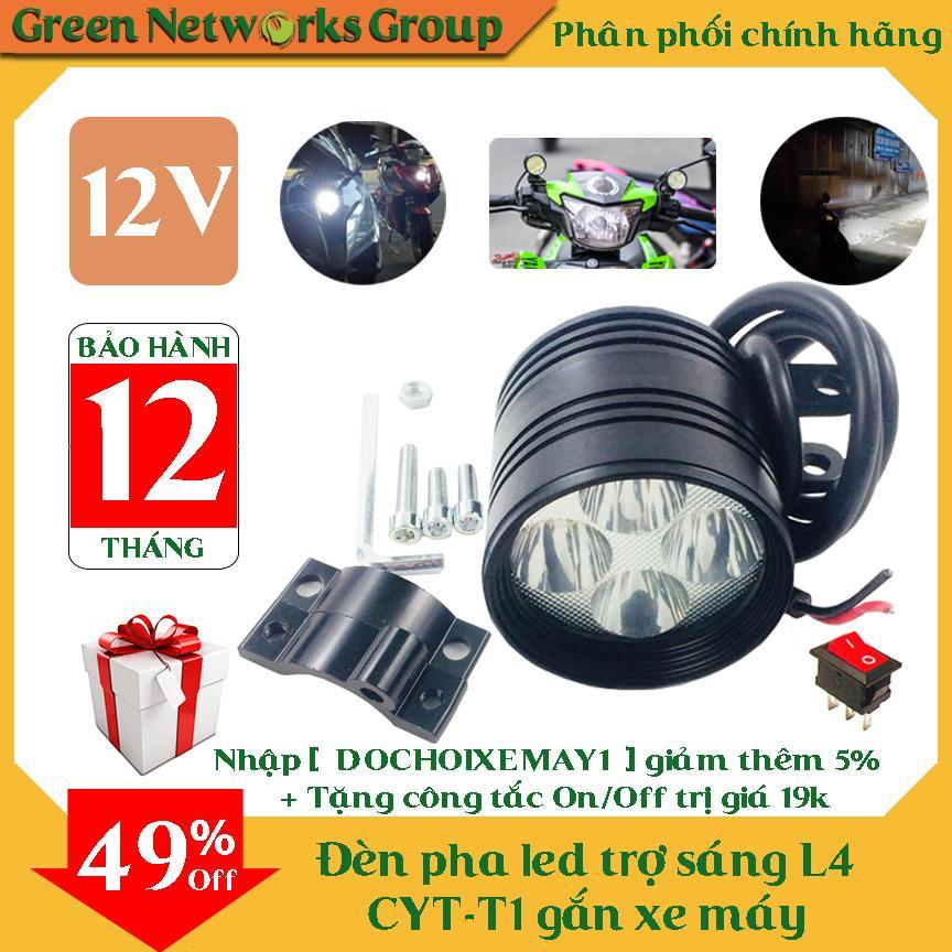 Đèn Pha Led Trợ Sáng L4 Cyt-T1 Gắn Xe Máy By Greennetworks Group (tp.hcm)