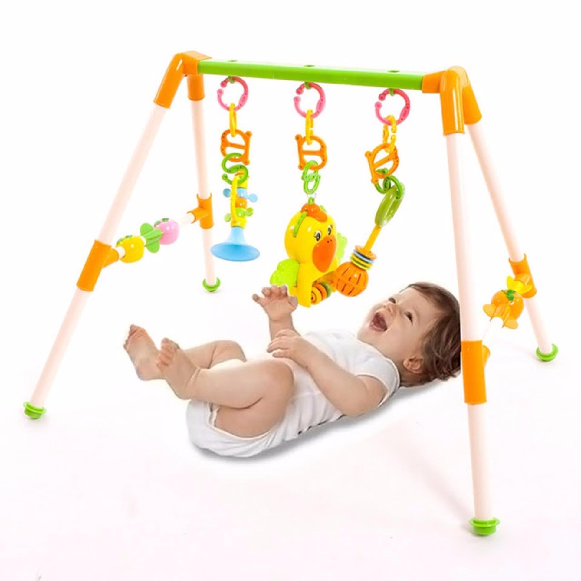 Hình ảnh Kệ vẹt chữ A cho bé chơi trên giường (âm thanh, đồ chơi giúp bé ngoan hơn)