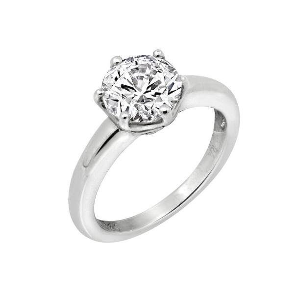 Nhẫn nữ Only You J'admire bạc cao cấp mạ Platinum đính đá Swarovski® trắng 2 carat size 7