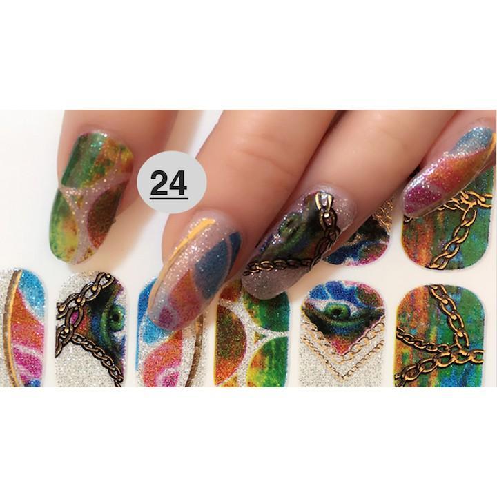 nail art sticker dan móng tay N16 (quà tặng kem 1 giũa và 2 khăn khô vô trùng) tốt nhất