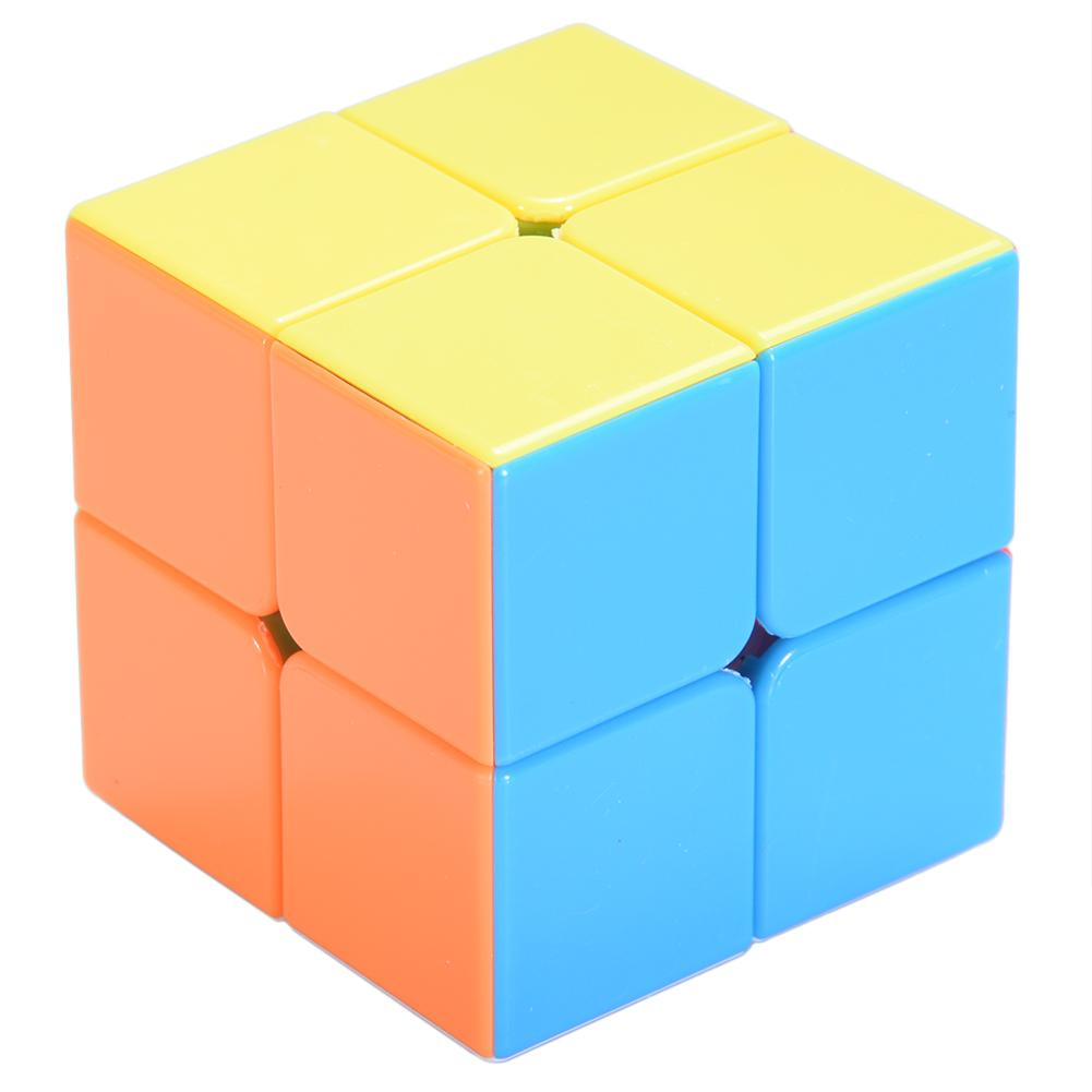 Xingning Cửa Hàng: 2x2 Đồ Chơi Trí Tuệ Khối Xếp Hình Stickerless Rubik Bỏ Túi Đồ Chơi Thông Minh Cho Khối Lập Phương Thần Kỳ Người Mới Bắt Đầu