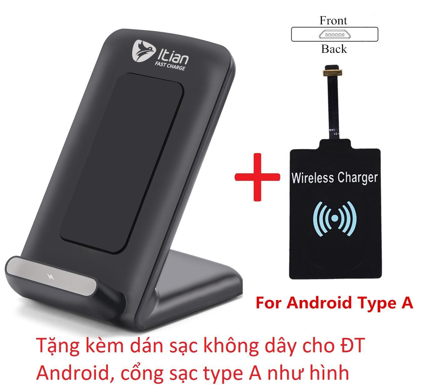 Hình ảnh Đế sạc nhanh (FastCharge) không dây cho Samsung S6 S7 S8 iPhone8 iPhonex Qi itian A18-10W Đen