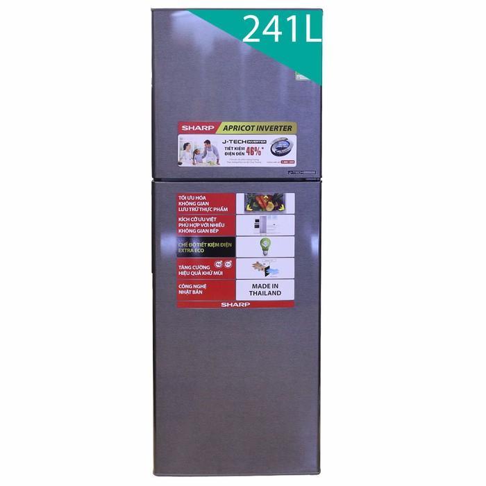 Tủ lạnh Sharp SJ-X251E-DS, 241 lít, Inverter