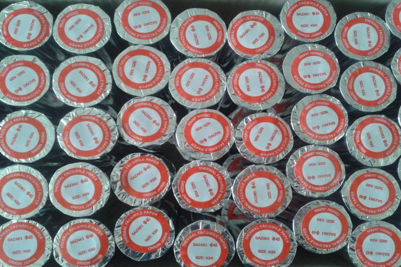 Giấy in nhiệt Oji K57 (Combo 30 cuộn lõi nhựa loại tốt)