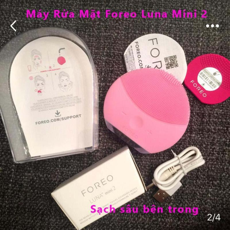 May Rua Mat Han Quoc, Máy Rửa Mặt, Cọ Rửa Mặt Làm Mềm  Sạch Da Foreou Luna Mini 2 cao cấp