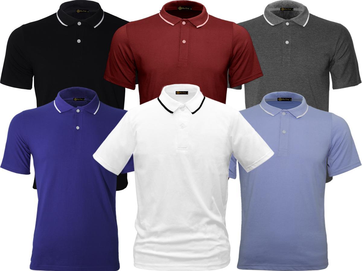 Combo 6 áo Thun Cổ bẻ Polo nam - (6 màu) - HOA LONG
