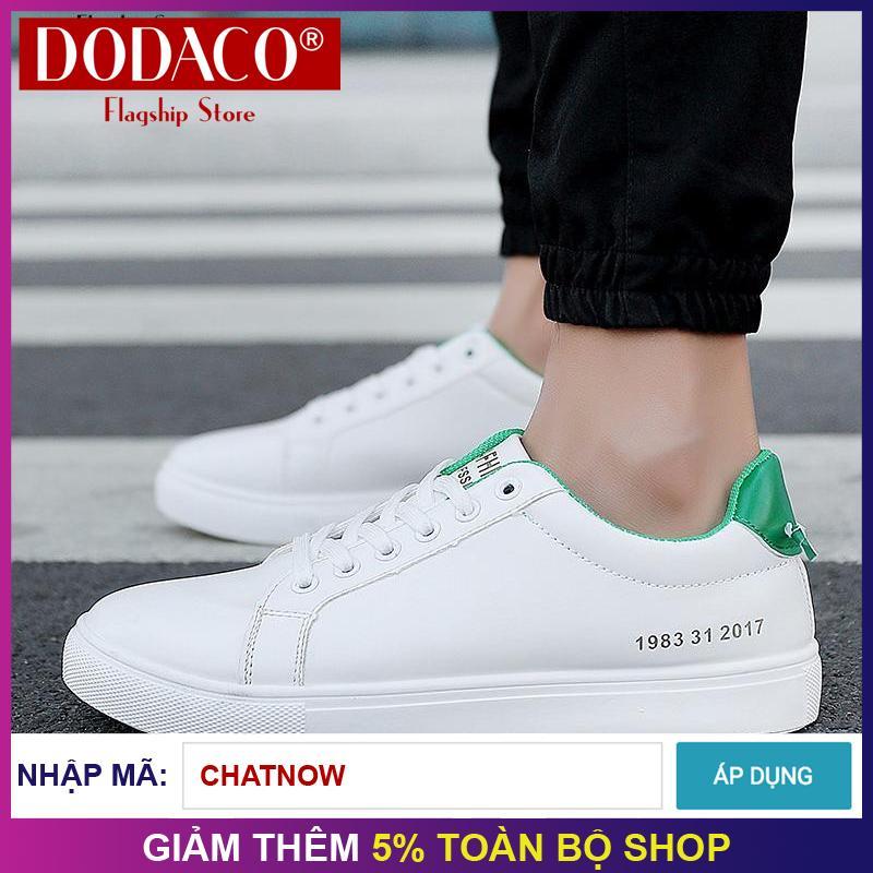 Hình ảnh Giày sneaker thể thao nam thời trang DODACO TTS0020 - A01 (Đen Đỏ Xanh Trắng)