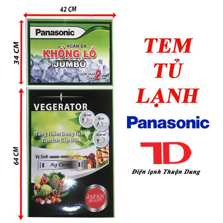 TEM DÁN TỦ LẠNH PANASONIC + TẶNG KÈM BĂNG KEO 2 MẶT