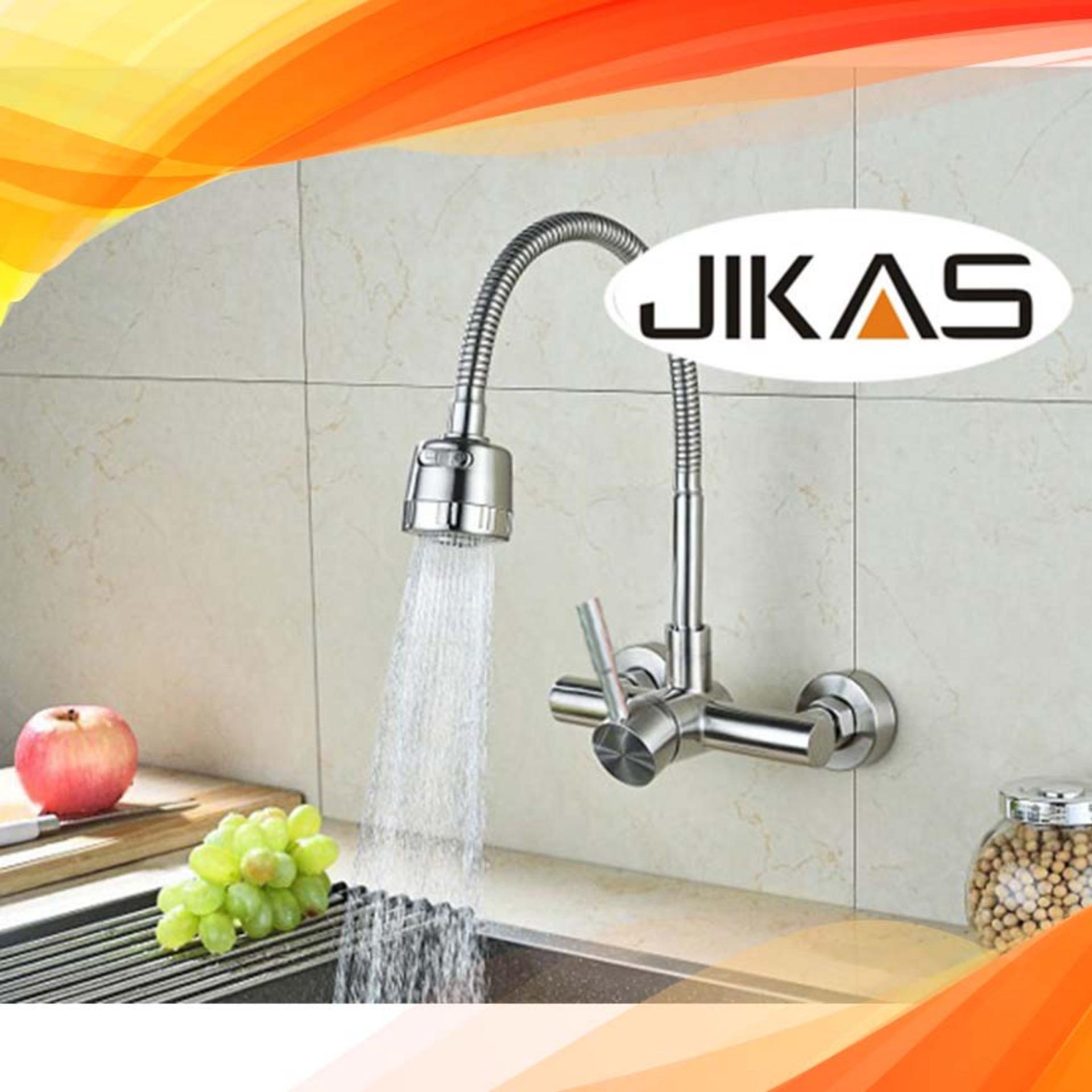 Vòi rửa bát nóng lạnh Inox 304 JIKAS JK-6015