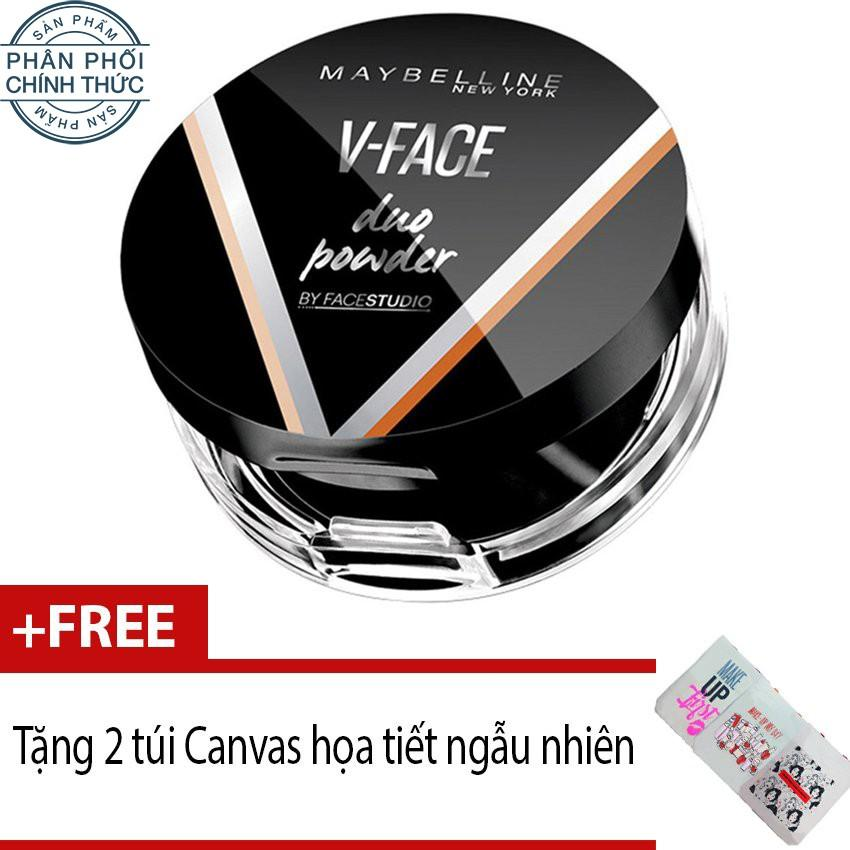 Ôn Tập Tốt Nhất Phấn Tạo Khối Maybelline V Face Duo Powder 8 5G Tong Sang Tặng 2 Tui Canvas Họa Tiết Ngẫu Nhien