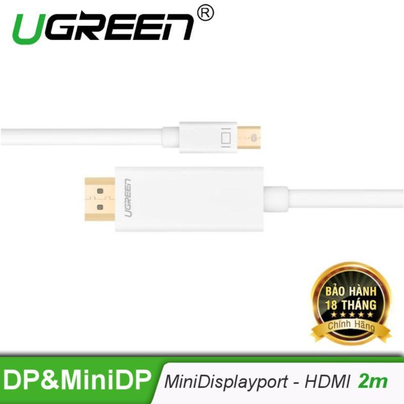 Bảng giá Cáp chuyển đổi mini DisplayPort sang HDMI Dài 2M MD101 10404  (Màu Trắng) - Hãng phân phối chính thức. Phong Vũ