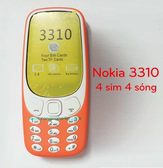 Hình ảnh Điện Thoại Nokia 4 Sim Bản 3310 - Hàng Nhập Khẩu