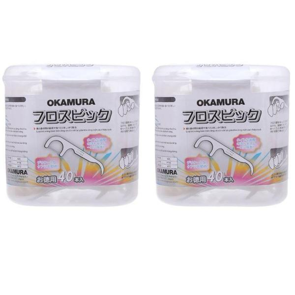 2 Hộp Tăm chỉ kẽ răng nha khoa cao cấp Nhật bản gói 40 chiếc - Okamura (Japan) giá rẻ