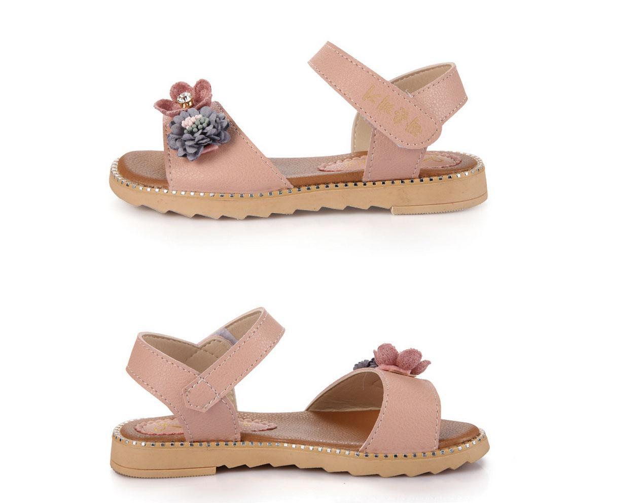 Hình ảnh sandal cho bé gái đi học chống trượt HQ-02 phong cách hàn quốc