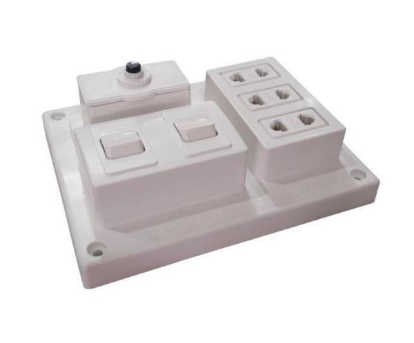 Bảng giá Bảng điện nổi LiOA 15A 3 ổ cắm 2 công tắc B-CB15A2C
