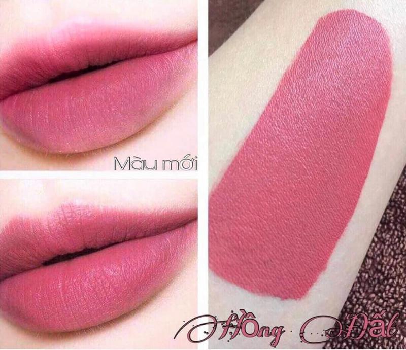 son kem lì MN Lipstic - hồng đất 08