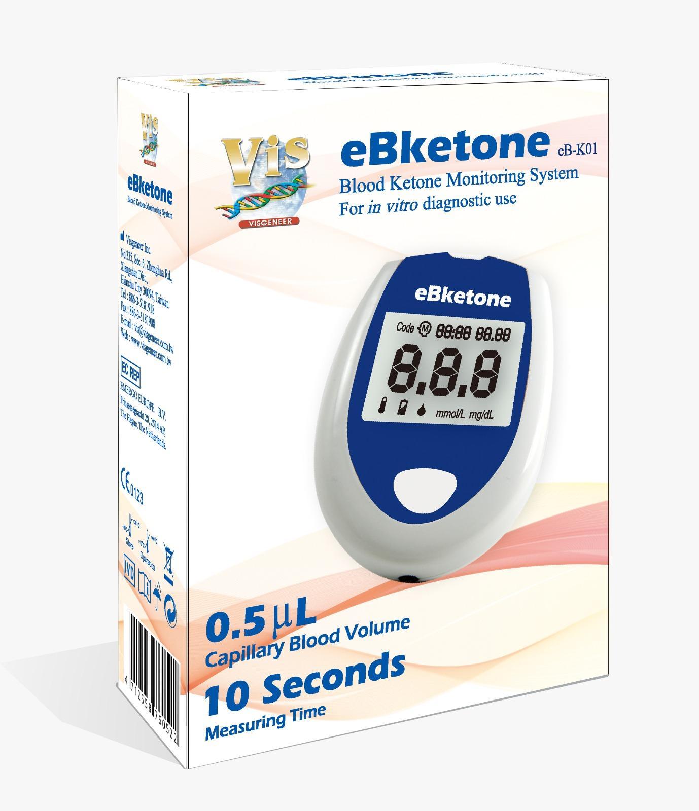 Bộ máy đo Ketone máu eBketone EB-K01 (Trắng) nhập khẩu