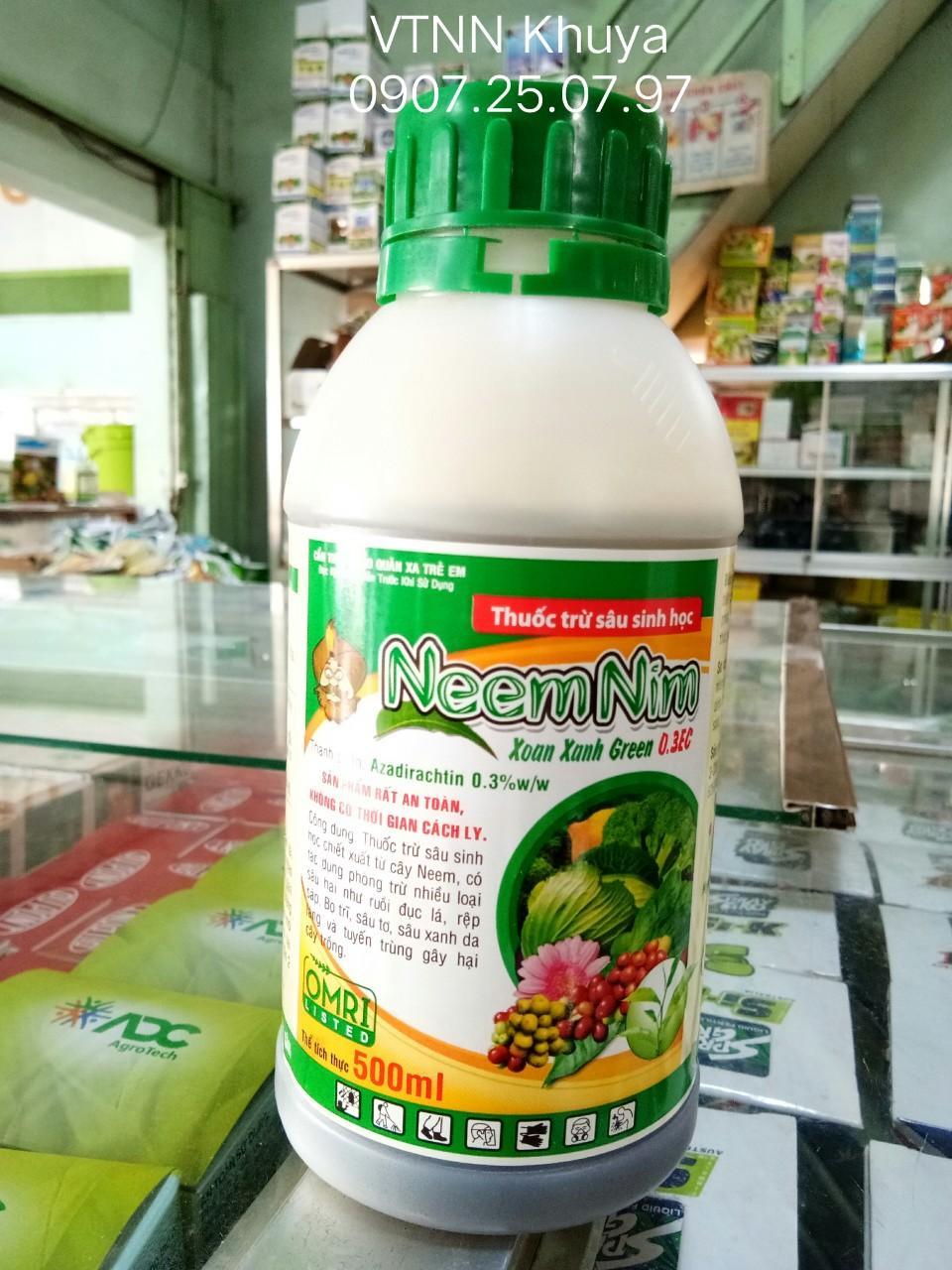 Thuốc trừ sâu sinh học NeemNim Green 0.3EC