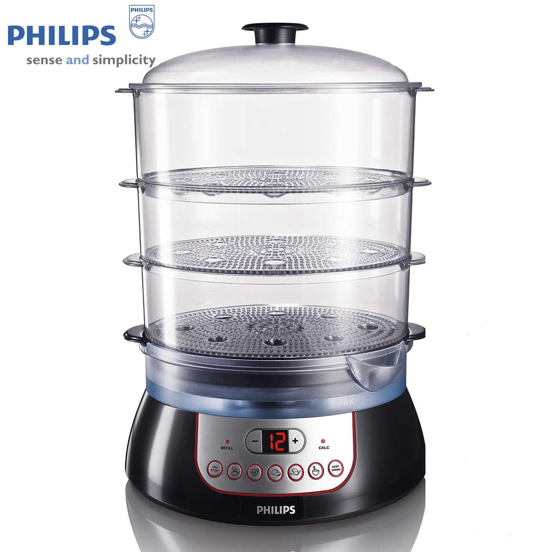 Nồi hấp Philips HD9140 (Đen) - Hàng nhập khẩu