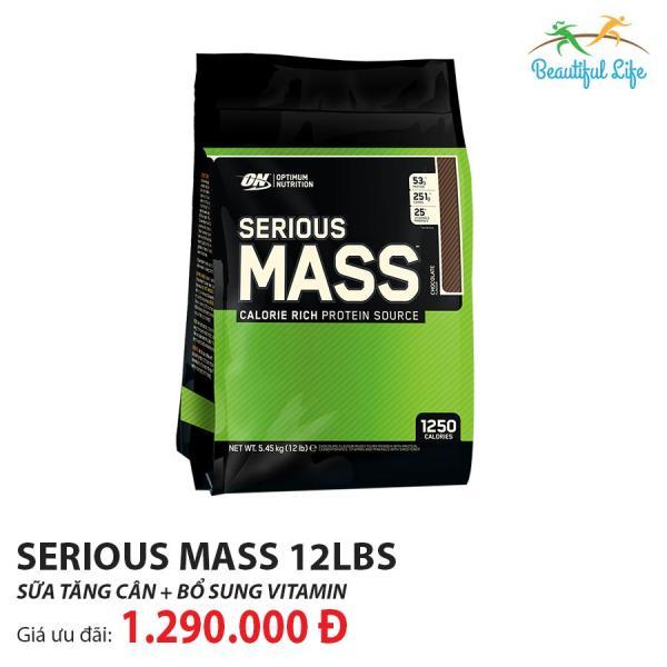 Sữa tăng cân Optimum Nutrition Serious Mass 12LBS