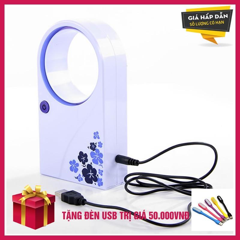 Hình ảnh Quat mini khong canh cam tay sieu mat gia re + tặng đèn USB tiện dụng