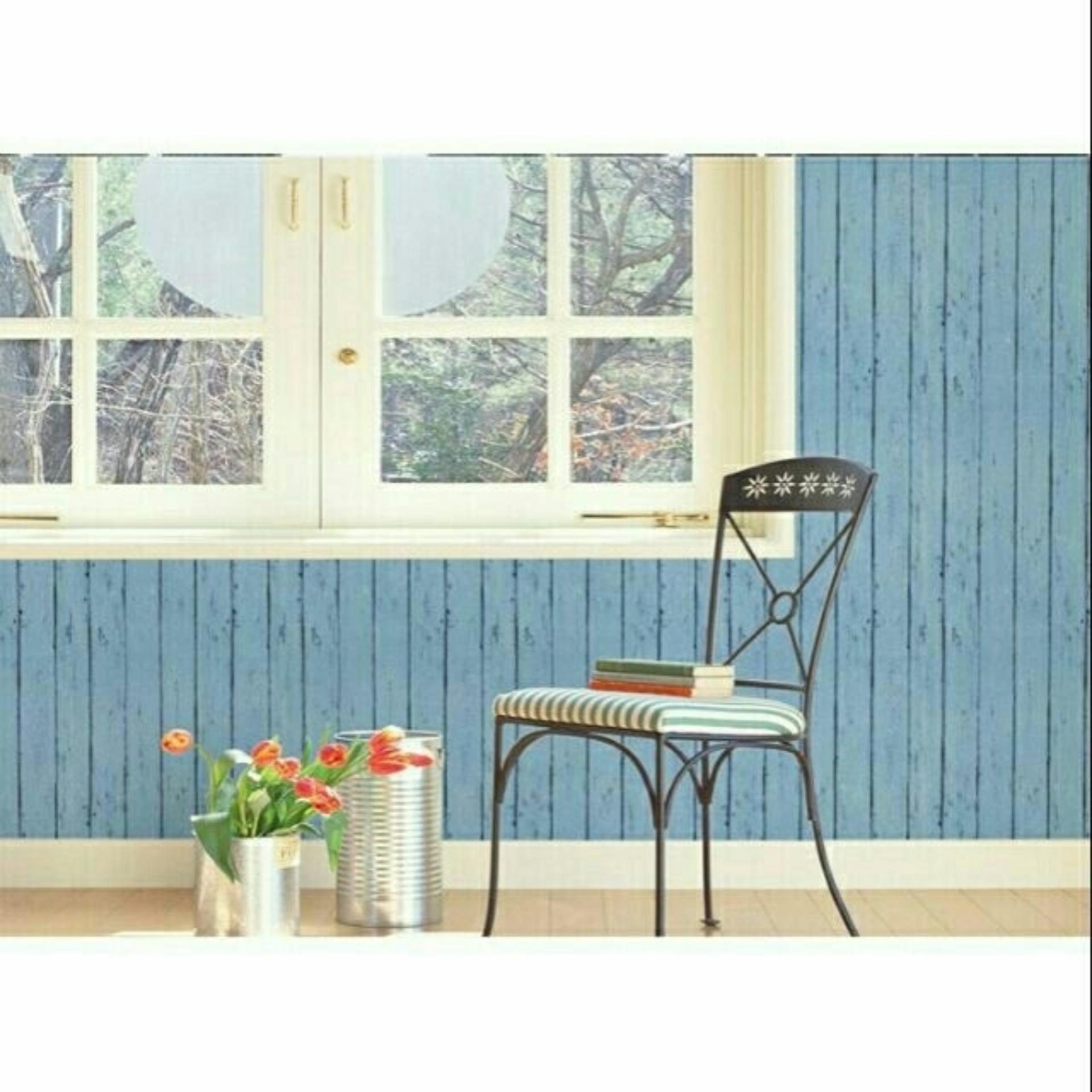 5m vuông Giấy dán tường phong cách Hàn Quốc khổ rộng 45cm Ván xanh