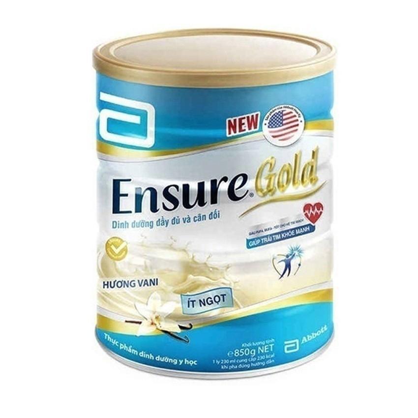 Lon sữa bột Ensure Gold hương vani ít ngọt 850g