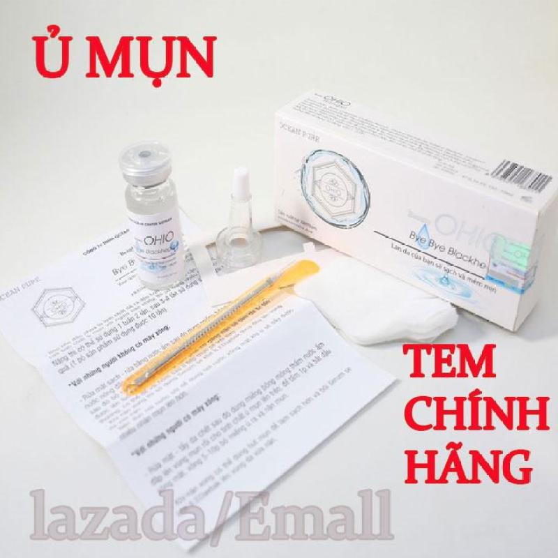 Serum ủ mụn OHIO giúp trị mụn làm trắng da chống lão hóa da - hộp 10ml - TẶNG KÈM CÂY NẶN MỤN nhập khẩu