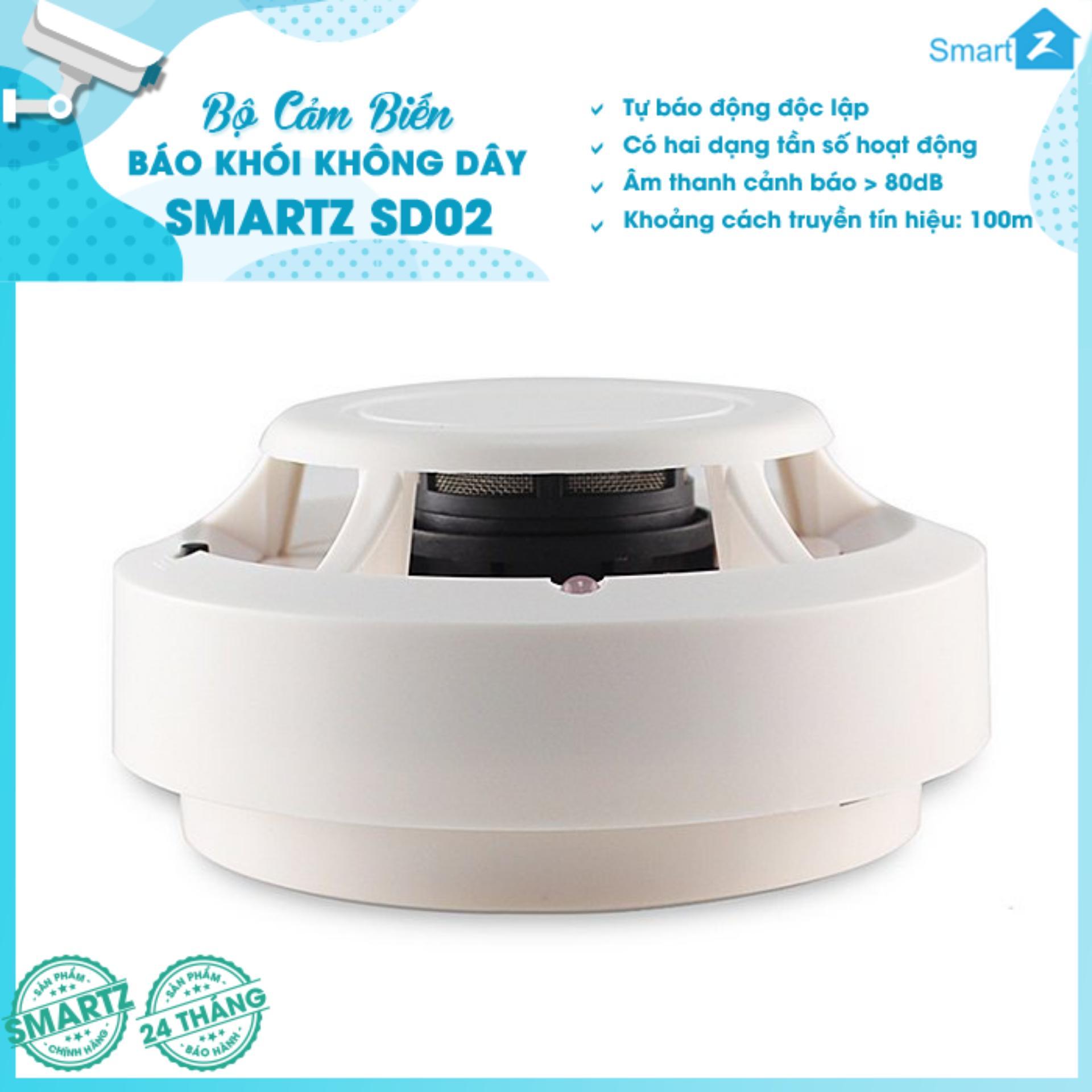Cảm biến báo khói không dây SmartZ SD02 - HÃNG PHÂN PHỐI ĐỘC QUYỀN