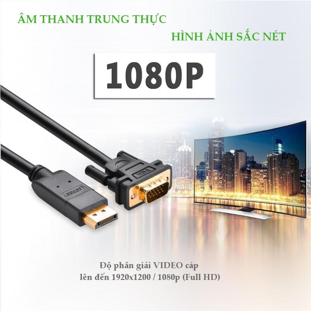 Dây chuyển đổi DisplayPort sang VGA hỗ trợ phân giải 1920x1200, 2M UGREEN DP105