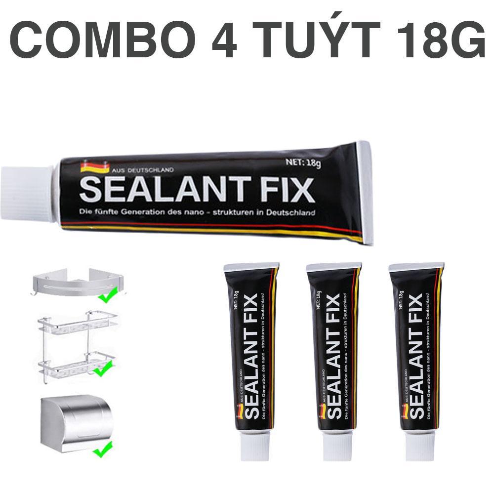 Combo 4 Keo Dán Inox lên Tường Sealant Fix 18g, keo dán siêu dính trong cơ khí, Keo Sealant Fix Tuýt Lớn Công Nghệ Đức