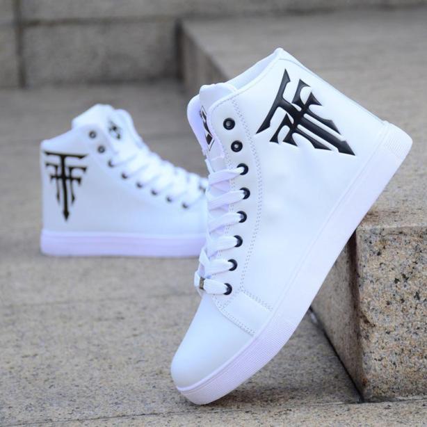 Giày nam cao cổ trắng DN-GC205 giá rẻ