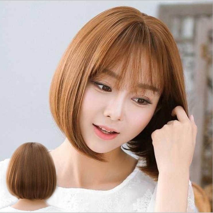 [TẶNG KÈM LƯỚI] Tóc giả nữ Hàn Quốc cao cấp có da đầu -TG5360 ( MÀU NÂU SÁNG NHƯ HÌNH )
