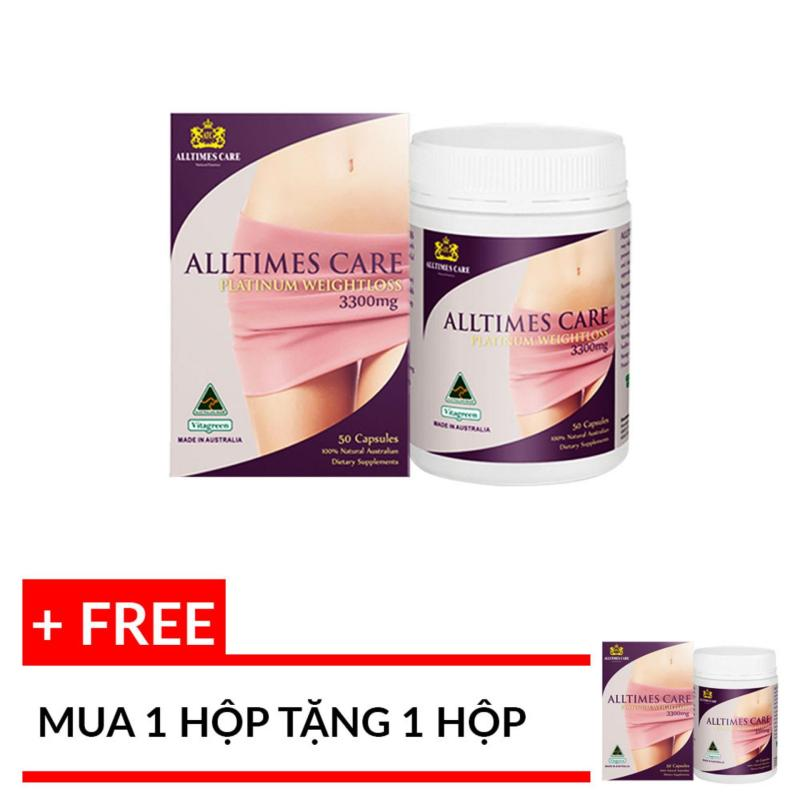 Viên uống giảm cân Alltimes Care Platinum Weightloss 3300mg 50 viên cao cấp