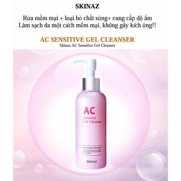 Sữa Rửa Mặt AC Sensitive Gel Cleanser Skinaz Hàn Quốc