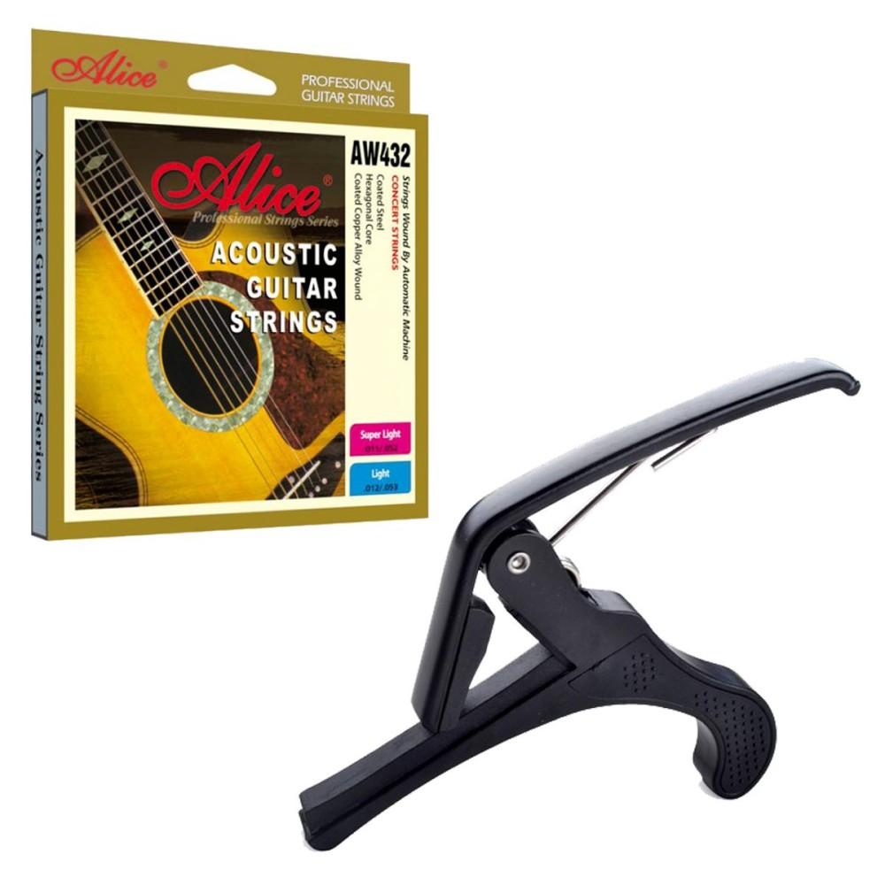 Ôn Tập Capo Guitar Acoustic Bộ Day Đan Acoustic Alice Aw432