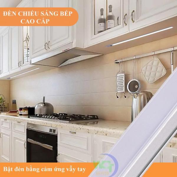 Đèn cảm ứng vẫy tay lắp tủ bếp dài 60cm bóng 11w kèm nguồn 12V