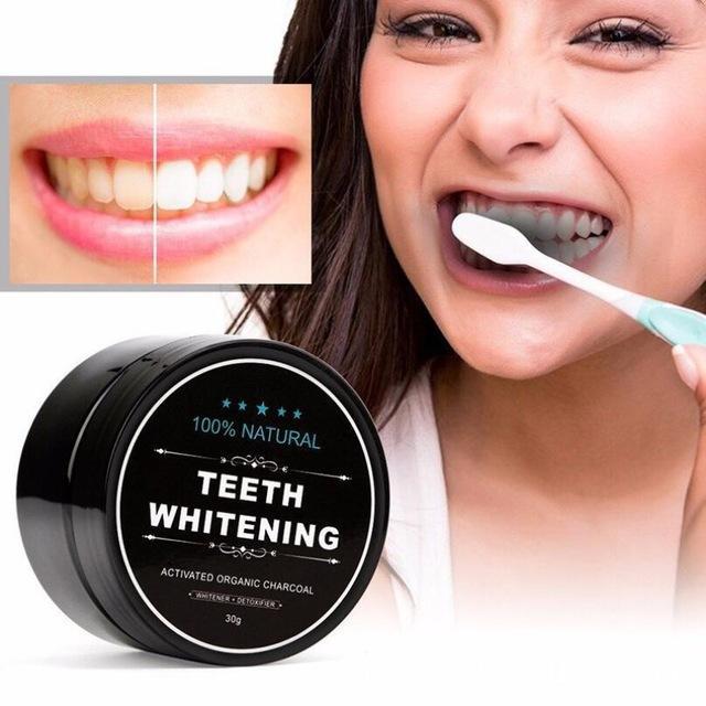 Bột tẩy trắng răng than hoạt tính teeth whitening nhập khẩu