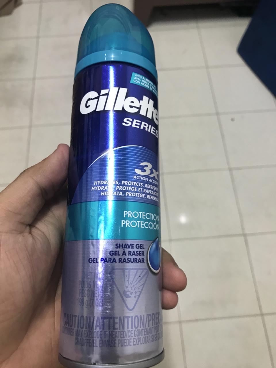 GEL CẠO RÂU GILLETTE SERIES 198g (nắp xanh dương) nhập khẩu