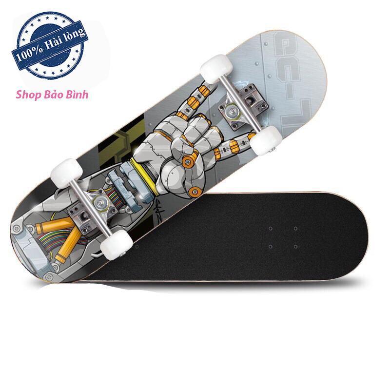 Giá bán Ván trượt thể thao skateboard gỗ phong ép cao cấp 7 lớp mặt nhám