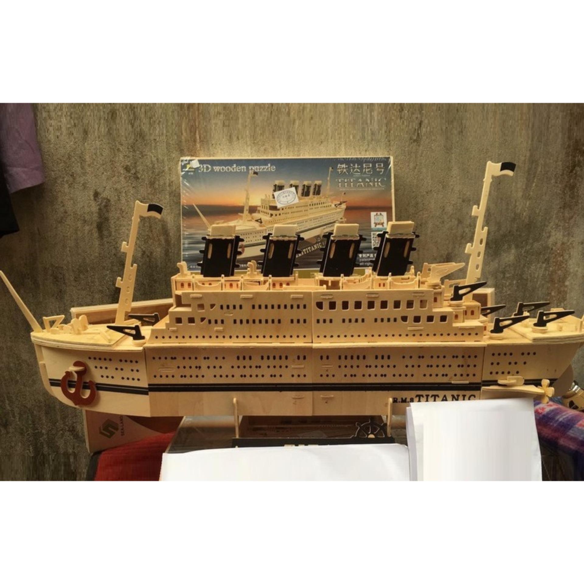 Hình ảnh Đồ chơi lắp ráp gỗ 3D Mô hình tàu Titanic