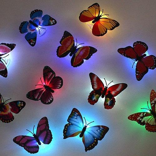 Đèn ngủ 7 sắc màu led bươm bướm