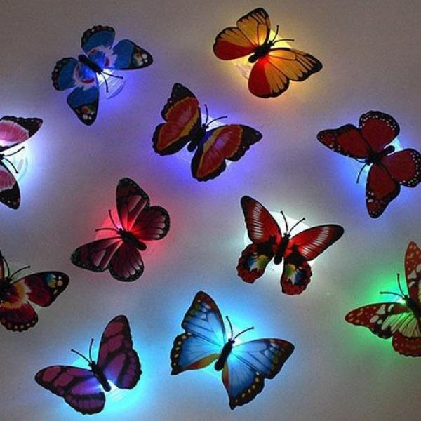 Đèn ngủ sắc màu led bươm bướm