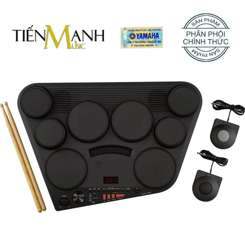 Bộ Trống điện tử Yamaha DD-75 - Hãng phân phối chính thức (Electronic Portable Digital Drum DD75 - Có tem chống hàng giả Bộ CA - Kèm Nguồn, Dùi Trống, Pedal)