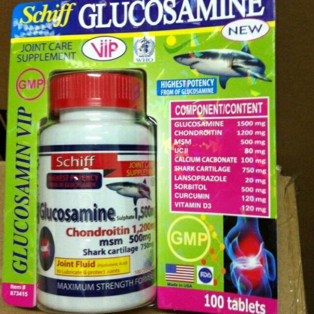 Schiff Glucosamin 1500 VIP m đau xương khớp nhập của Mỹ