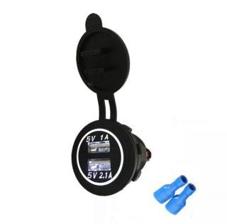 Sạc điện thoại trên ô tô, xe hơi (3.1A có nắp chống nước) thumbnail