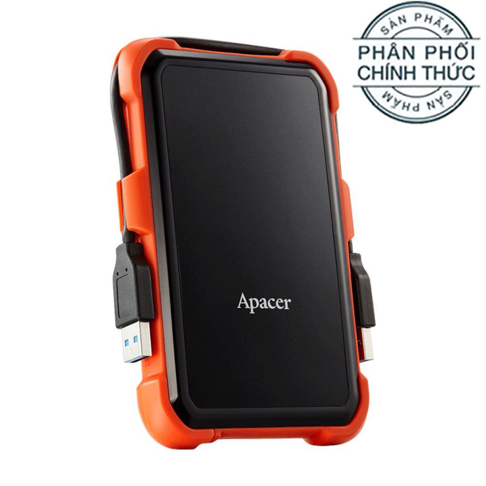 Ổ cứng di động 2TB chống Sock Apacer AC630 Military-Grade USB 3.1 Gen 1 AP2TBAC630T-1 - Hãng Phân Phối Chính Thức